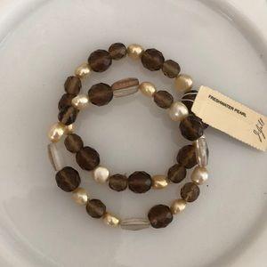 •J JILL• Pearl and Bead Bracelets